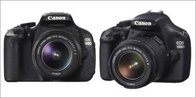 Neue Canon EOS 600D und 1100D starten