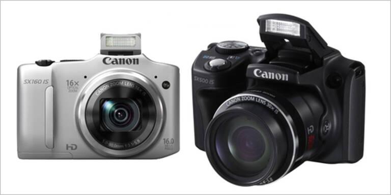 Canon bringt SX160 und SX500 auf den Markt