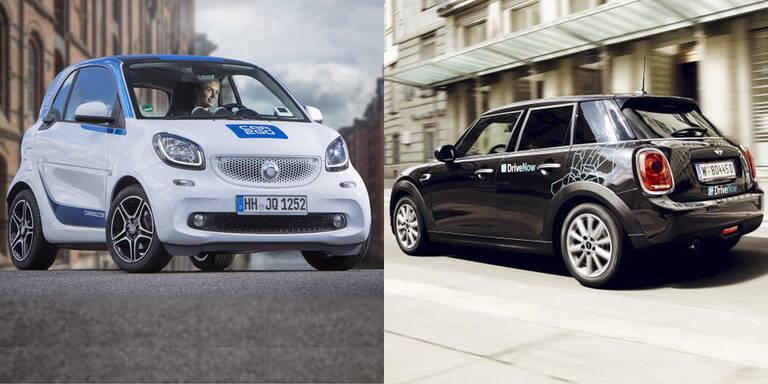 car2go und DriveNow könnten sich verbünden