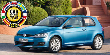 """VW Golf VII ist """"Car of the Year 2013"""""""