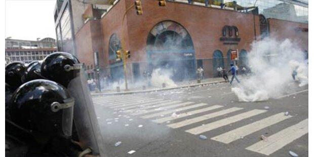 Verletzte bei Unruhen in Caracas