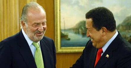 Chavez vergleicht Juan Carlos mit Castro