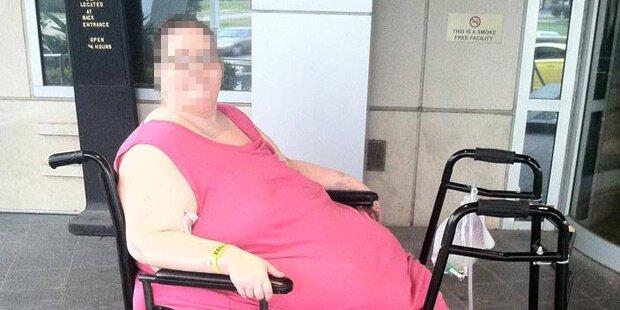 Dickste Frau der Welt nimmt 200 Kilo ab