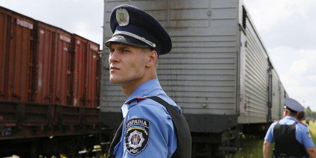 Leichen-Zug in Charkiw angekommen