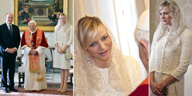 Charlene beim Papst: Will sie Baby-Segen?