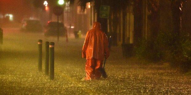Osten der USA ertrinkt im Regen