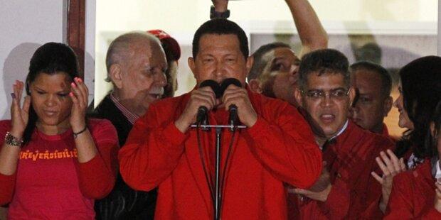 Hugo Chavez sichert sich weitere Amtszeit