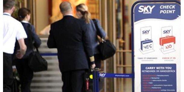 SkyEurope-Flieger starten in Bratislava