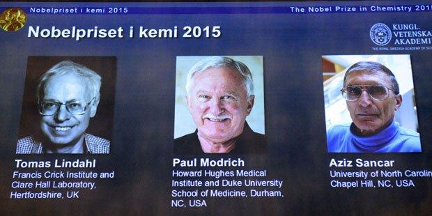 Chemie-Nobelpreis für DNA-Reparatur