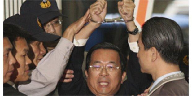 Taiwans Ex-Präsident Chen verhaftet