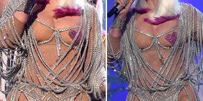 Cher halb nackt auf Bühne mit 71