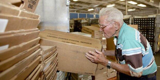US-Postler geht mit 95 Jahren in Rente
