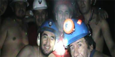 Freude bei verschütteten Bergleuten