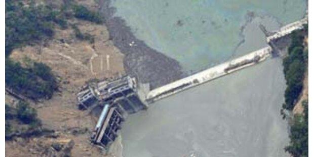 Erdbeben-See droht zu brechen