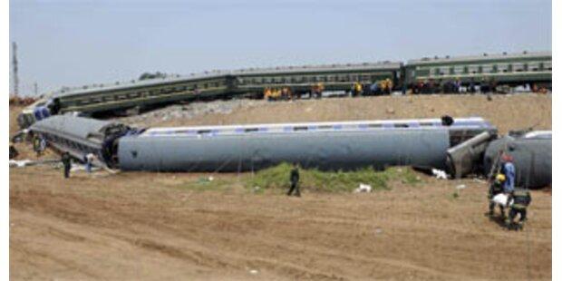 Schweres Zugunglück in Ostchina