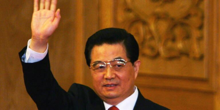 Chinas Staatschef  in Österreich eingetroffen