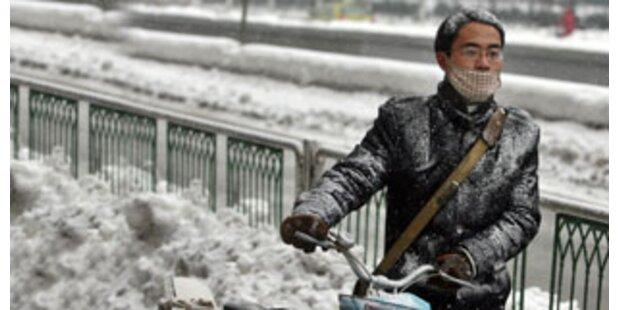 China versinkt im Schnee-Chaos