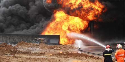 30 Arbeiter tot nach Brand in Bergwerk
