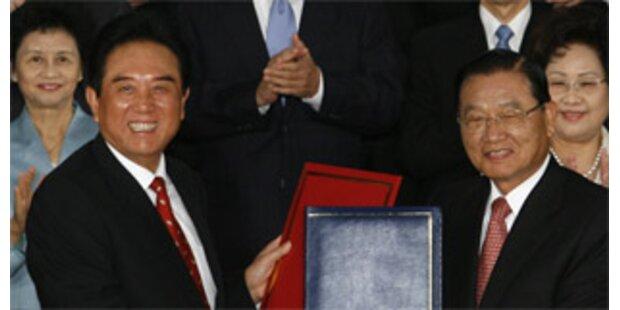 Taiwan und China unterzeichneten Verkehrsabkommen