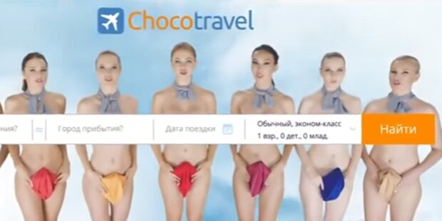 Reiseportal wirbt mit nackten Stewardessen