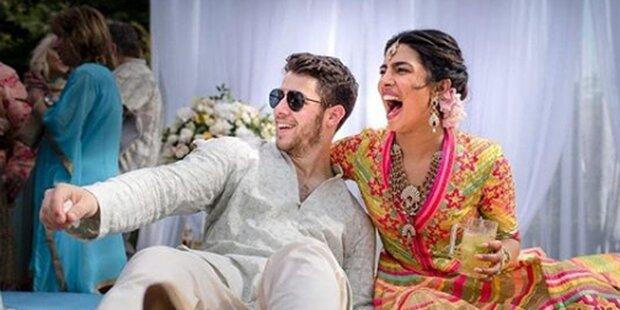 Chopra und Jonas: Romantische Bollywood-Hochzeit