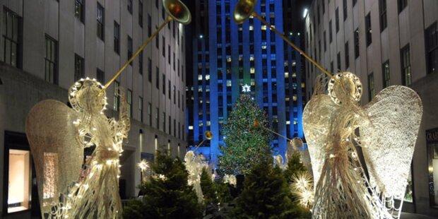 Der bekannteste Christbaum leuchtet