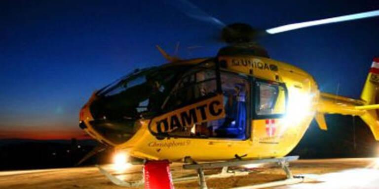 Notarzt-Hubschrauber Ziel von Laserpointer