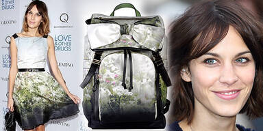 Alexa Chung und der neue Valentino Rucksack