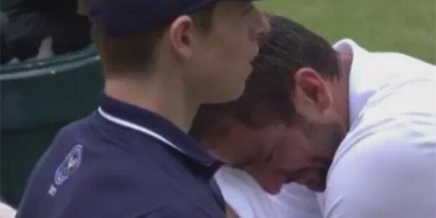Netz rätselt über Cilic' Emotionsausbruch