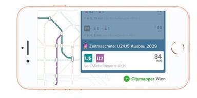 Öffi-App zeigt, wie viel Zeit man mit U2 & U5 spart