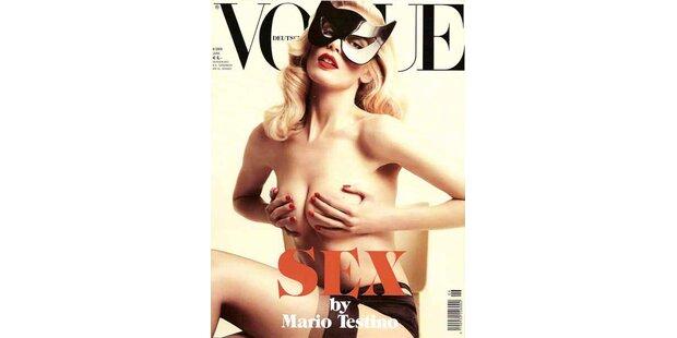 Claudia Schiffer auf dem Sexcover der Vogue