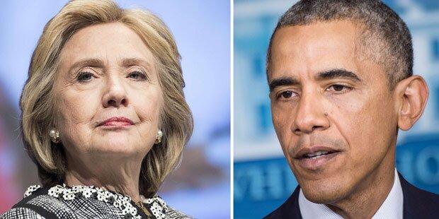 Clinton entschuldigt sich bei Obama