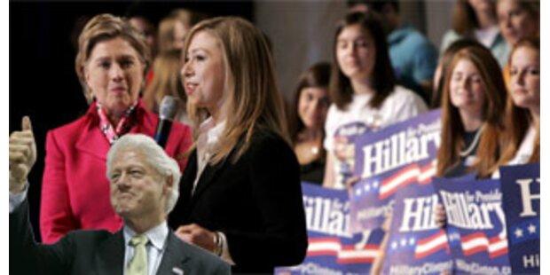 Chelsea findet Mum besser als Dad als Präsident
