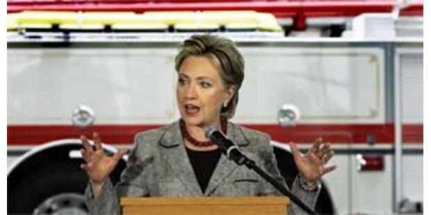 Clinton liegt in Umfrage deutlich vor McCain