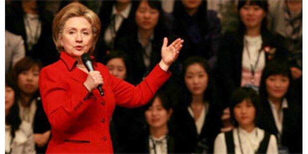 Clinton schließt Asien-Reise mit China-Besuch ab