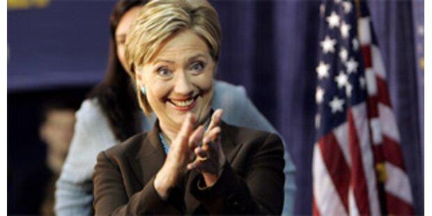 Clinton hängt Obama ab