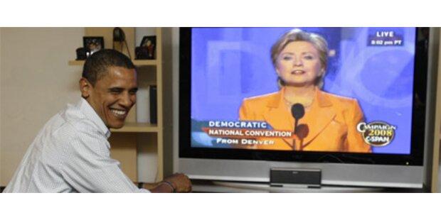 Clinton stärkt Obama den Rücken