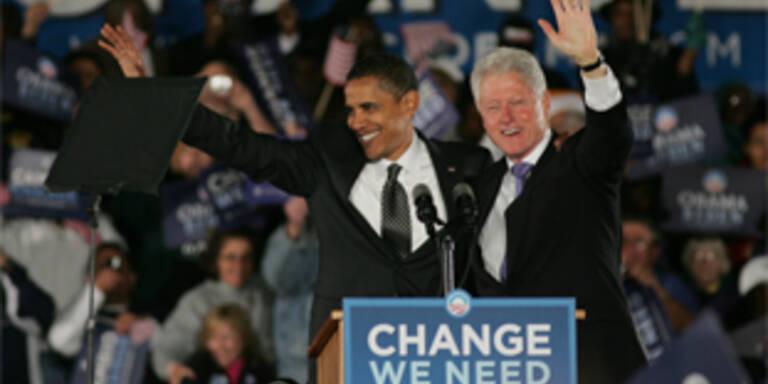 Bill Clinton und Obama feiern Versöhnung