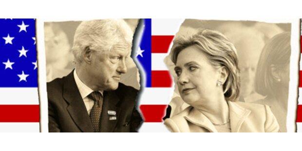Die Clintons stehen vor der Scheidung
