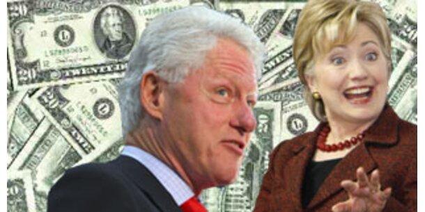 Die Clintons verdienten in 8 Jahren 109 Mio Dollar