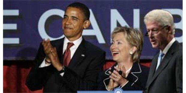Clintons werben gemeinsam für Obama