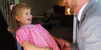 """Süß: Vater und Tochter haben """"erstes Date"""""""