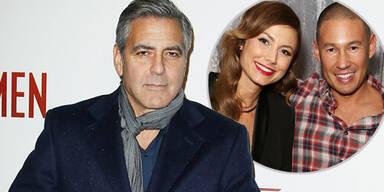 George Clooney, Stacy Keibler, Jared Pobre