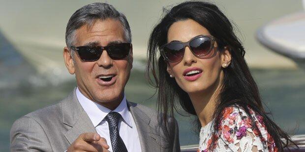 Clooneys große Hochzeitsparty