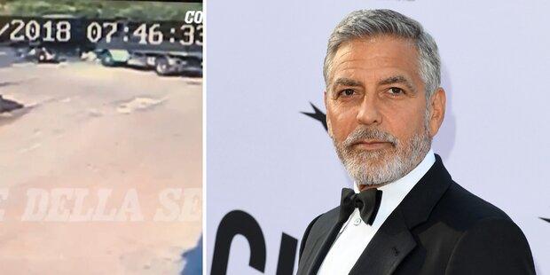Video zeigt: So schlimm war Clooney-Unfall