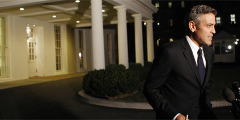 Clooney versäumt Oscar-Gala - und trifft Obama