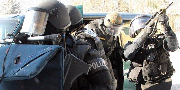 Polizei-Großeinsatz in der Innenstadt