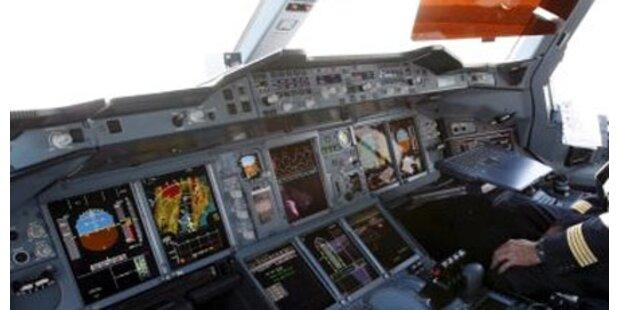 Frontscheibe von Airbus geborsten