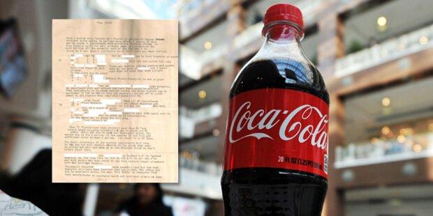 Coca-Cola stellt Geheimrezept aus