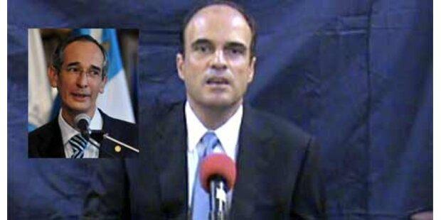 Mordopfer greift Guatemalas Präsident an